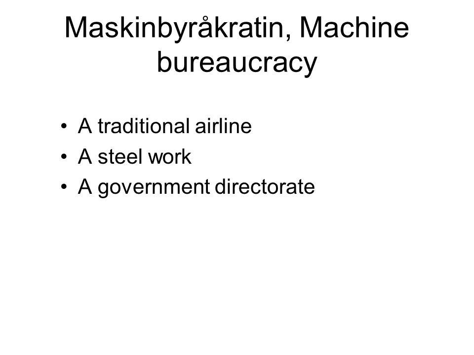 Maskinbyråkratin, Machine bureaucracy