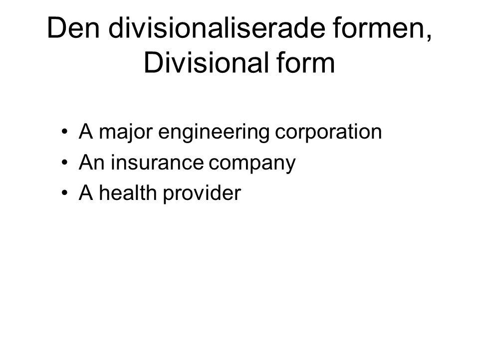 Den divisionaliserade formen, Divisional form