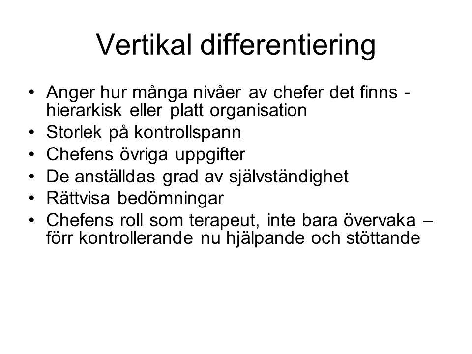 Vertikal differentiering