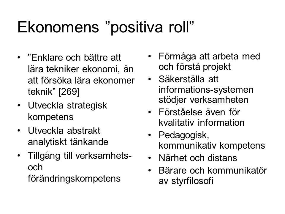 Ekonomens positiva roll