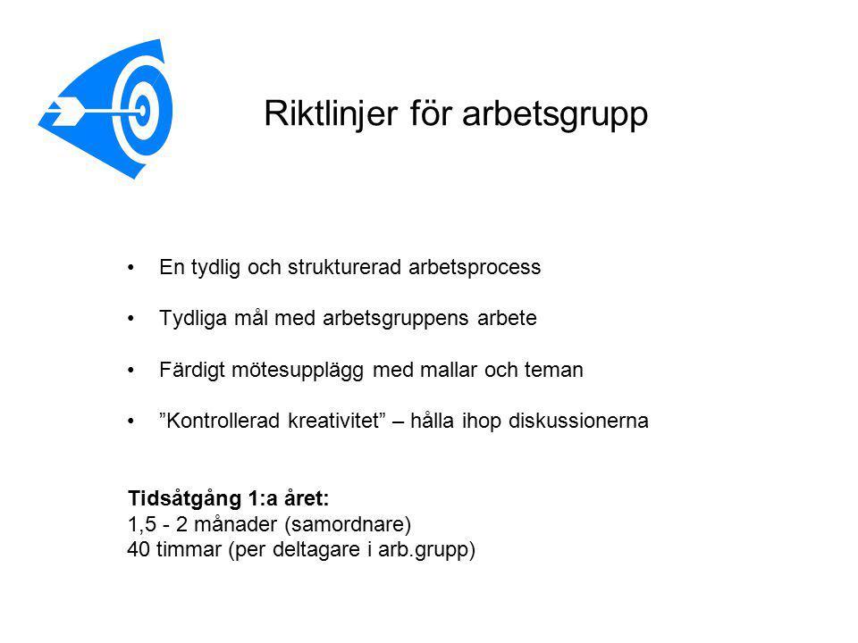 Riktlinjer för arbetsgrupp