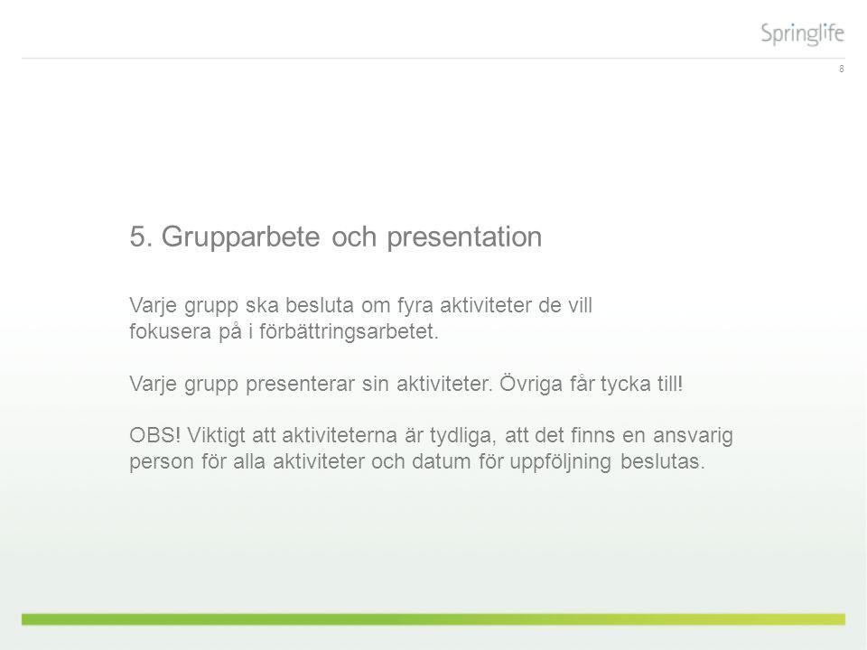 5. Grupparbete och presentation