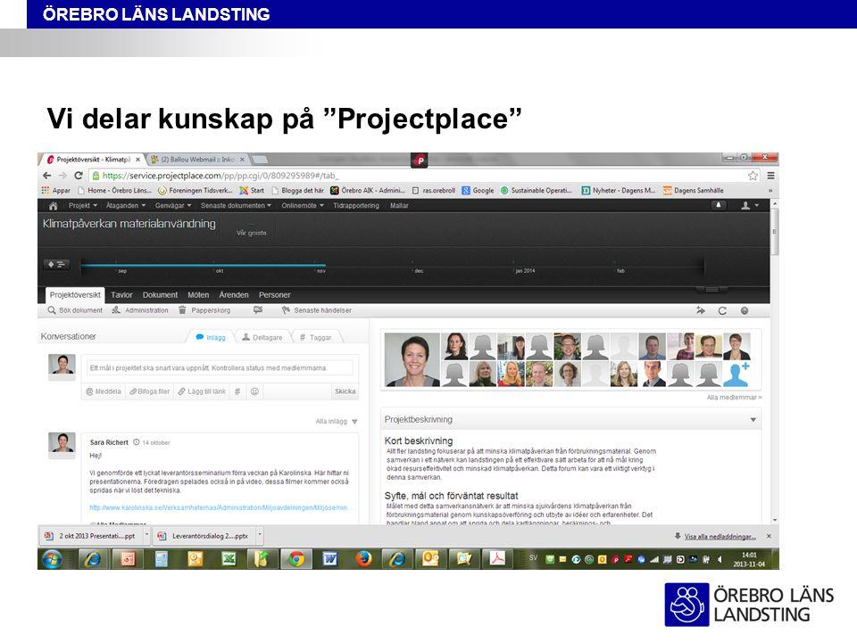 Vi delar kunskap på Projectplace