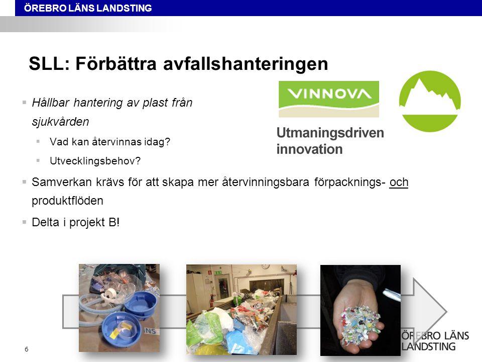SLL: Förbättra avfallshanteringen