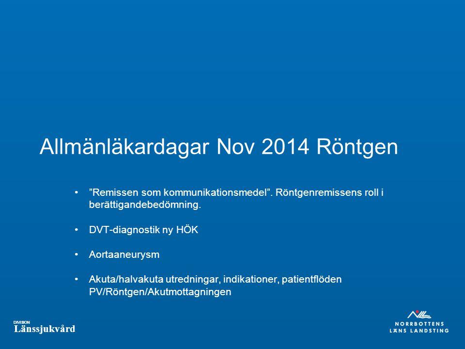 Allmänläkardagar Nov 2014 Röntgen