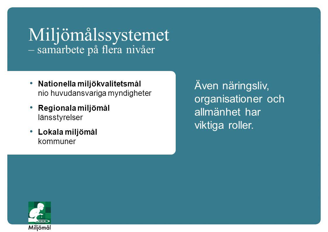Miljömålssystemet – samarbete på flera nivåer