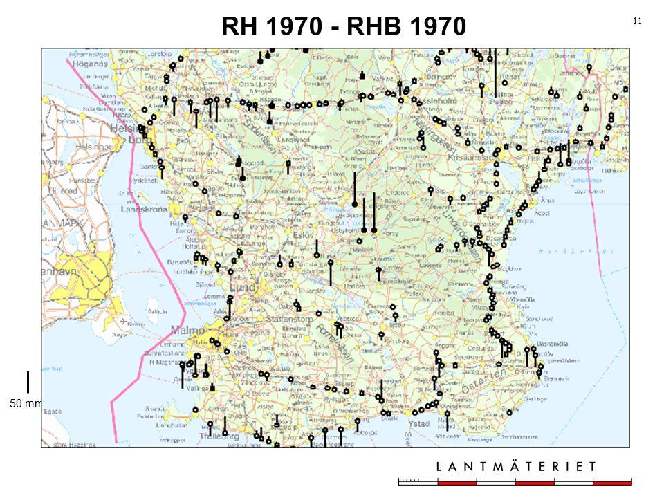 RH 1970 - RHB 1970 toleranser genom tiderna 50 mm