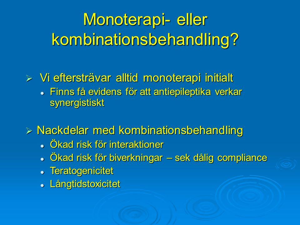 Monoterapi- eller kombinationsbehandling