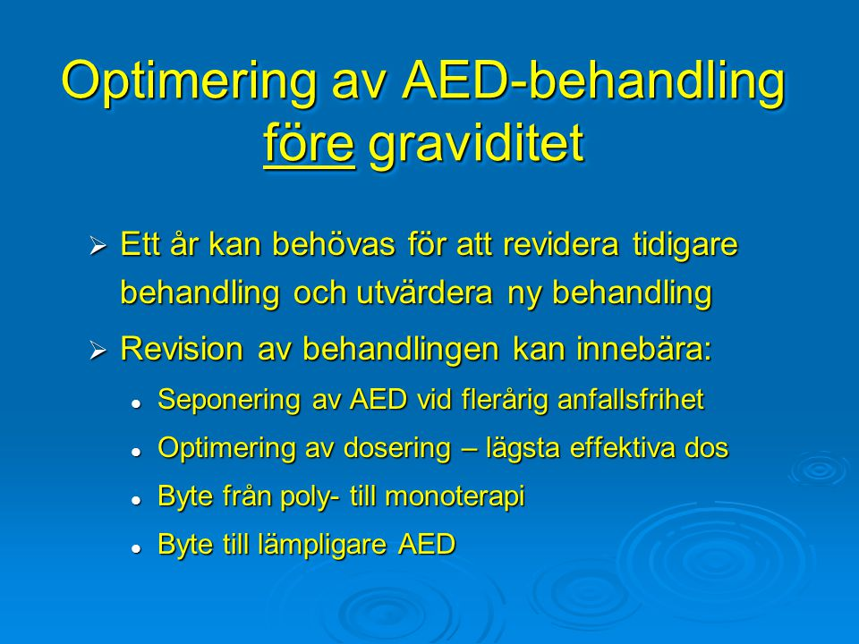 Optimering av AED-behandling före graviditet