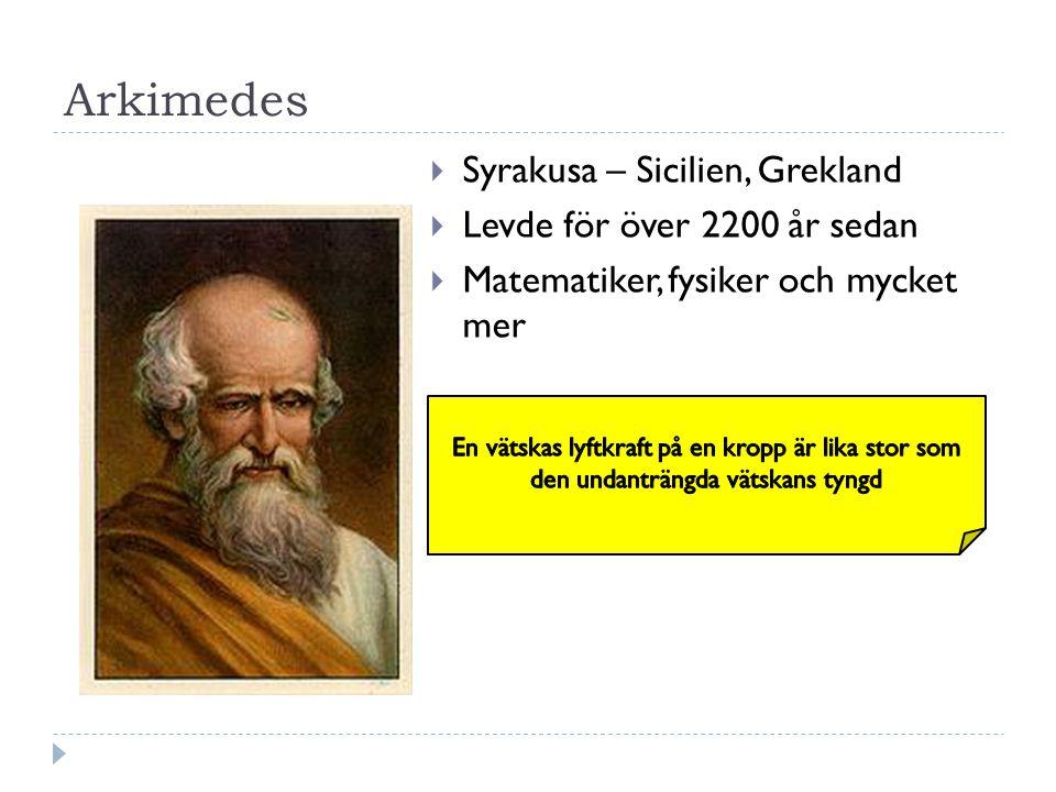 Arkimedes Syrakusa – Sicilien, Grekland Levde för över 2200 år sedan
