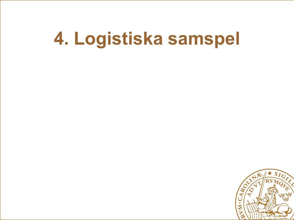4. Logistiska samspel