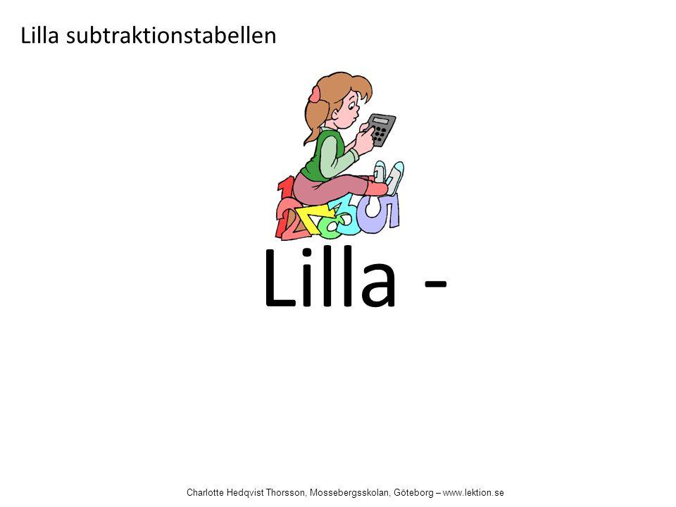 Lilla - Lilla subtraktionstabellen