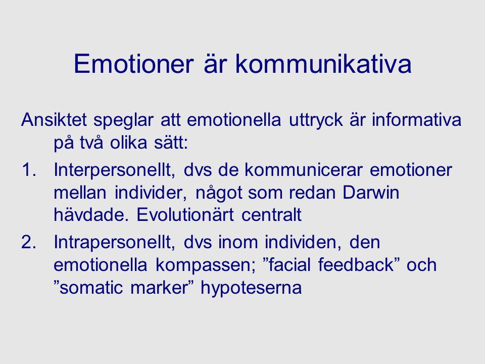 Emotioner är kommunikativa