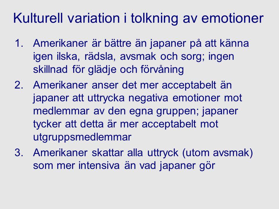 Kulturell variation i tolkning av emotioner