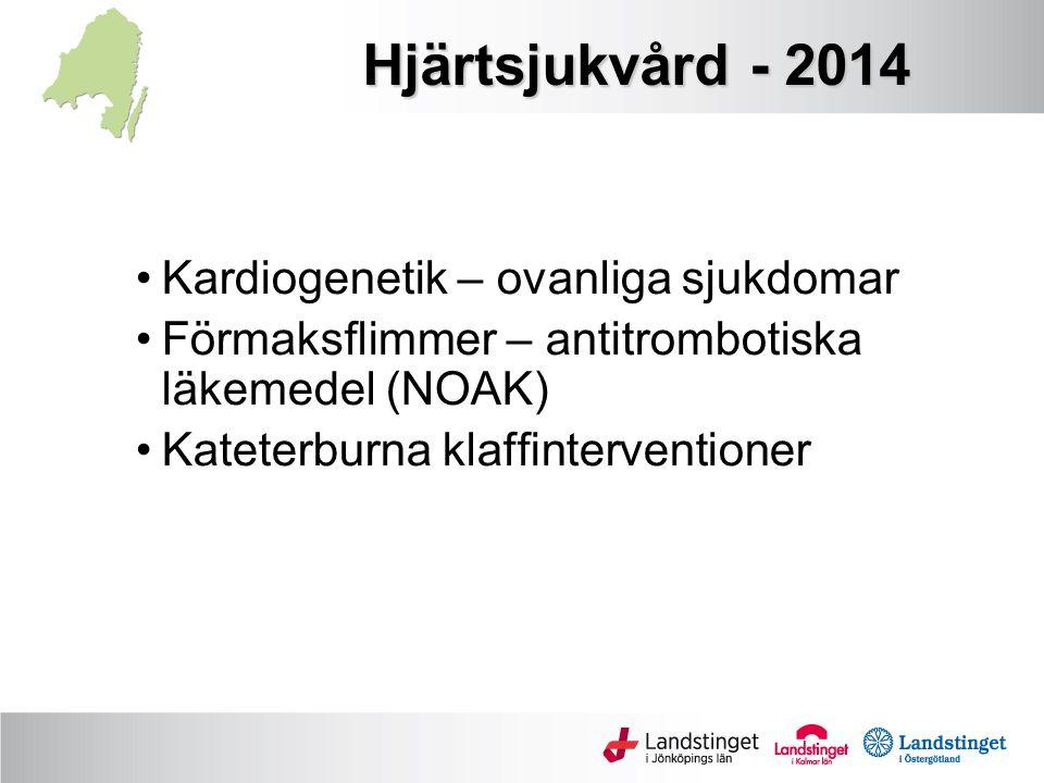 Hjärtsjukvård - 2014 Kardiogenetik – ovanliga sjukdomar