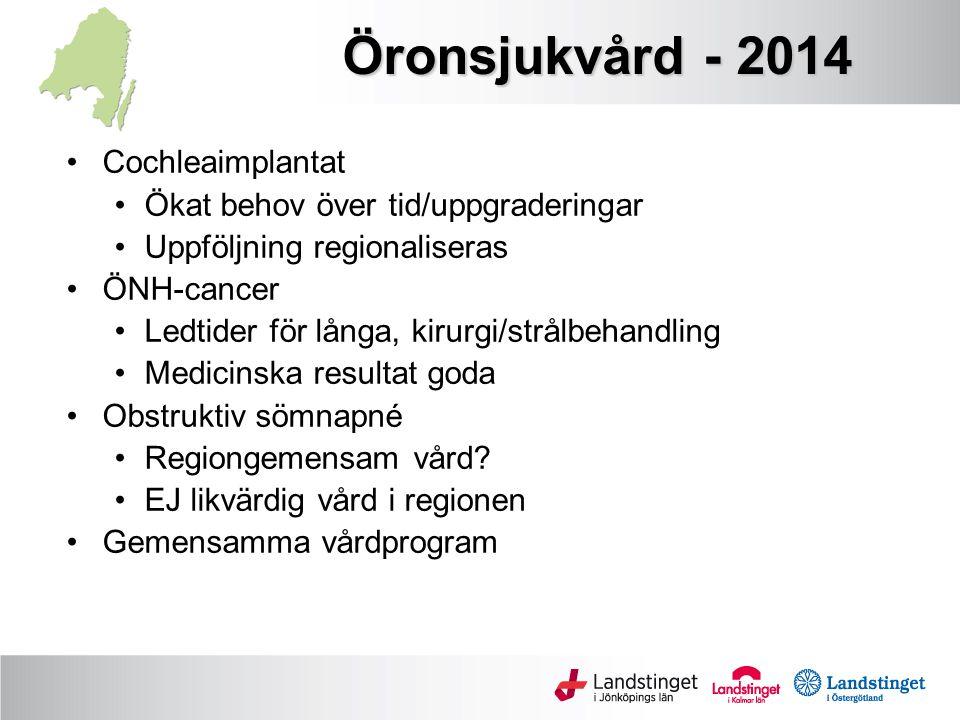 Öronsjukvård - 2014 Cochleaimplantat