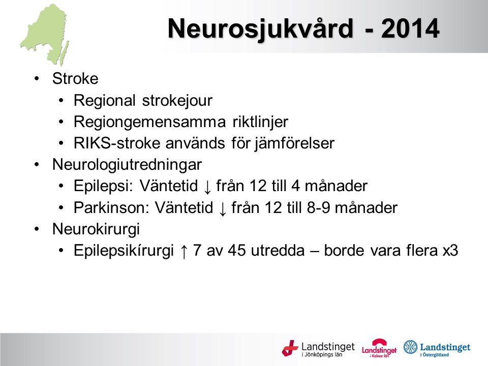 Neurosjukvård - 2014 Stroke Regional strokejour