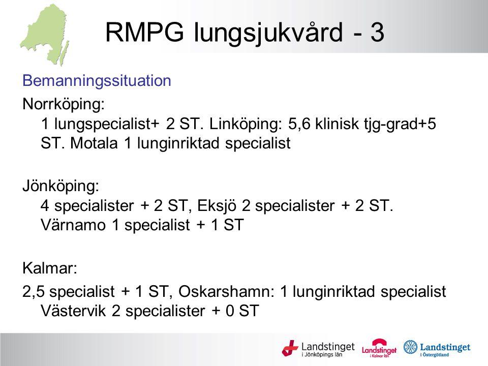 RMPG lungsjukvård - 3 Bemanningssituation