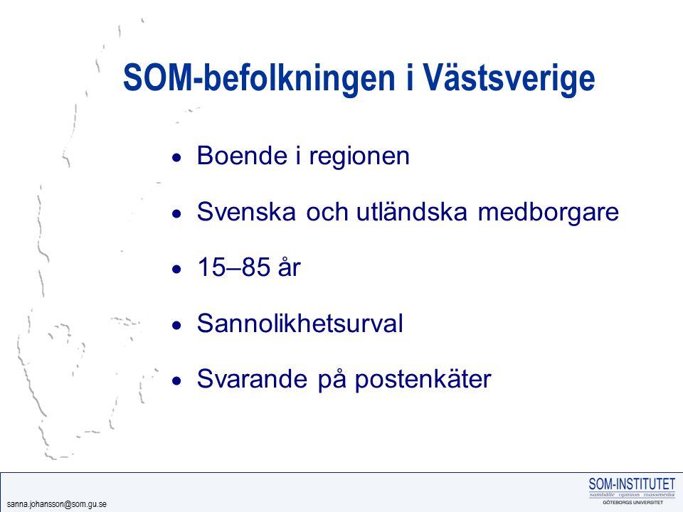 SOM-befolkningen i Västsverige