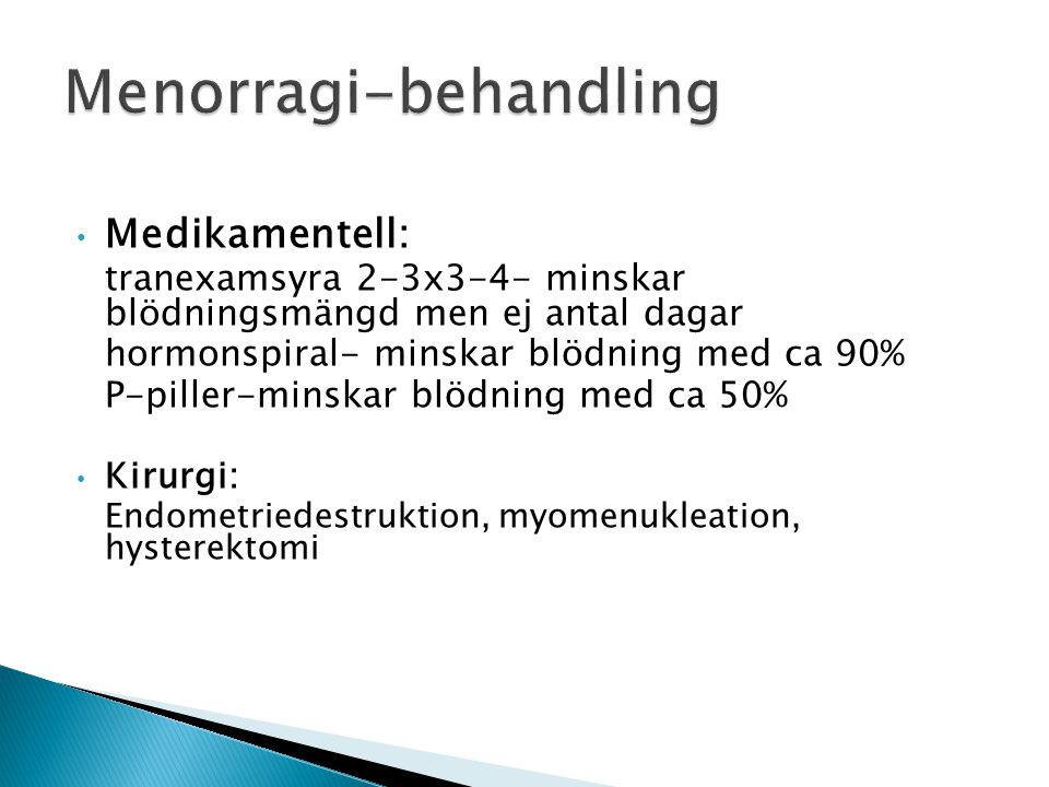 Menorragi-behandling