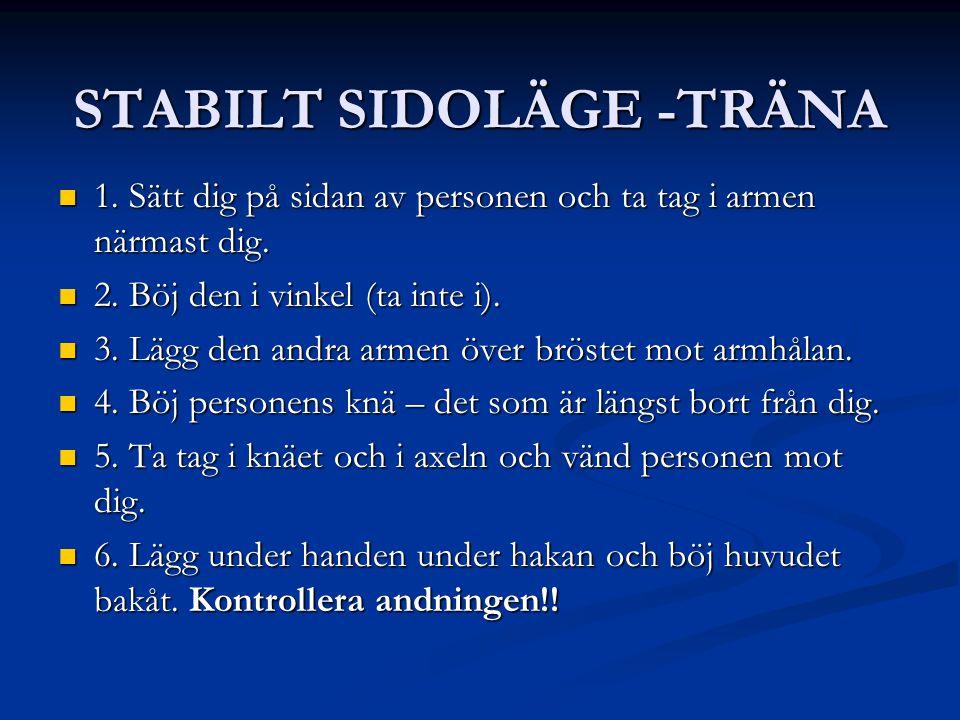 STABILT SIDOLÄGE -TRÄNA