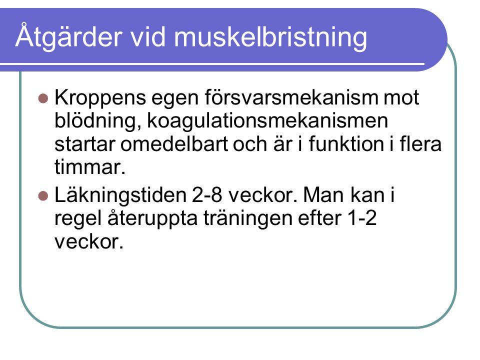 Åtgärder vid muskelbristning