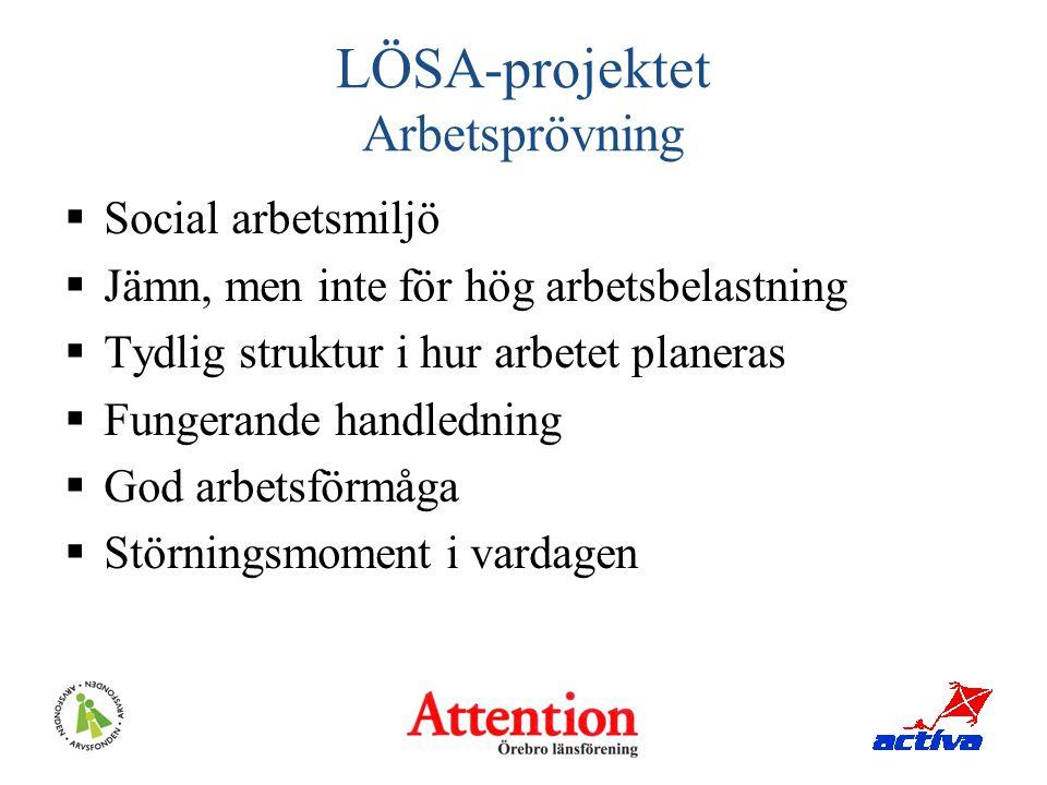 LÖSA-projektet Arbetsprövning