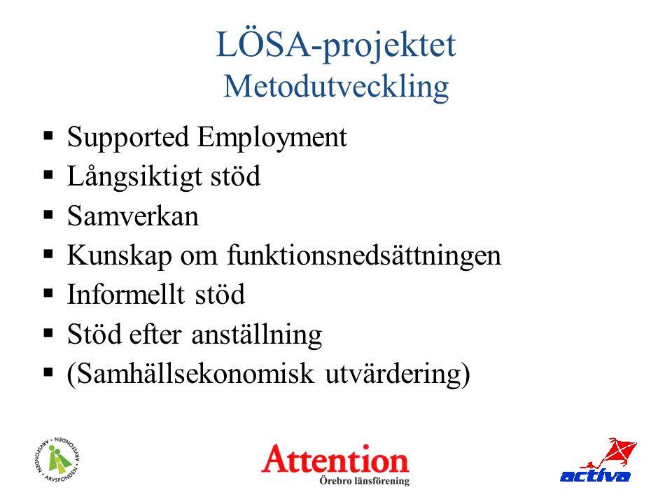 LÖSA-projektet Metodutveckling