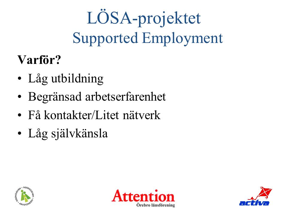 LÖSA-projektet Supported Employment