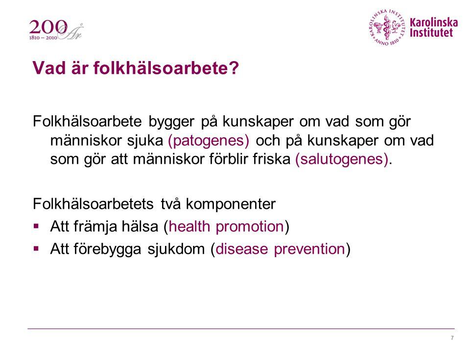 Vad är folkhälsoarbete