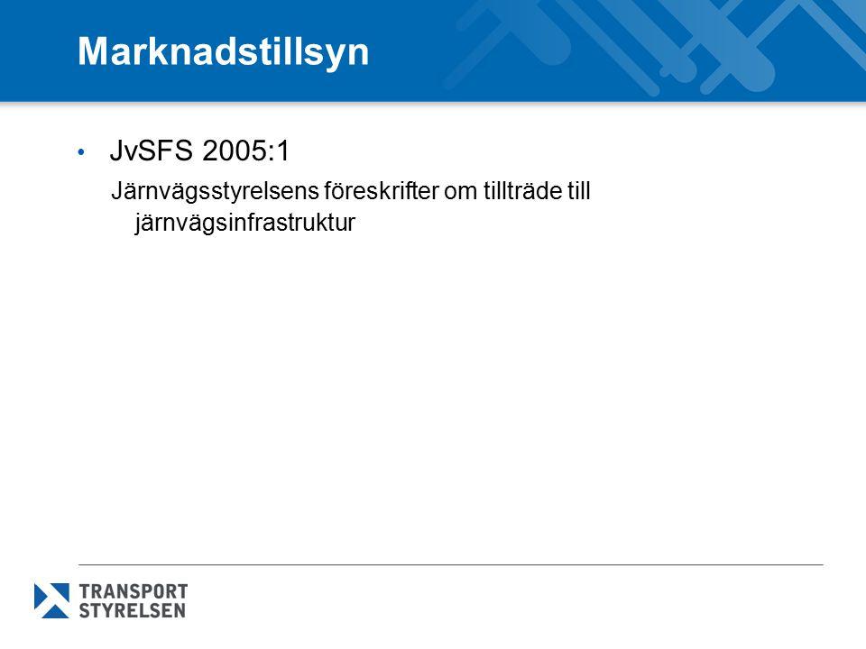 Marknadstillsyn JvSFS 2005:1
