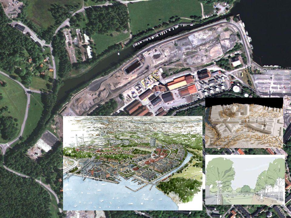 Bakgrund Nybyggnation på tidigare industriell fastighet