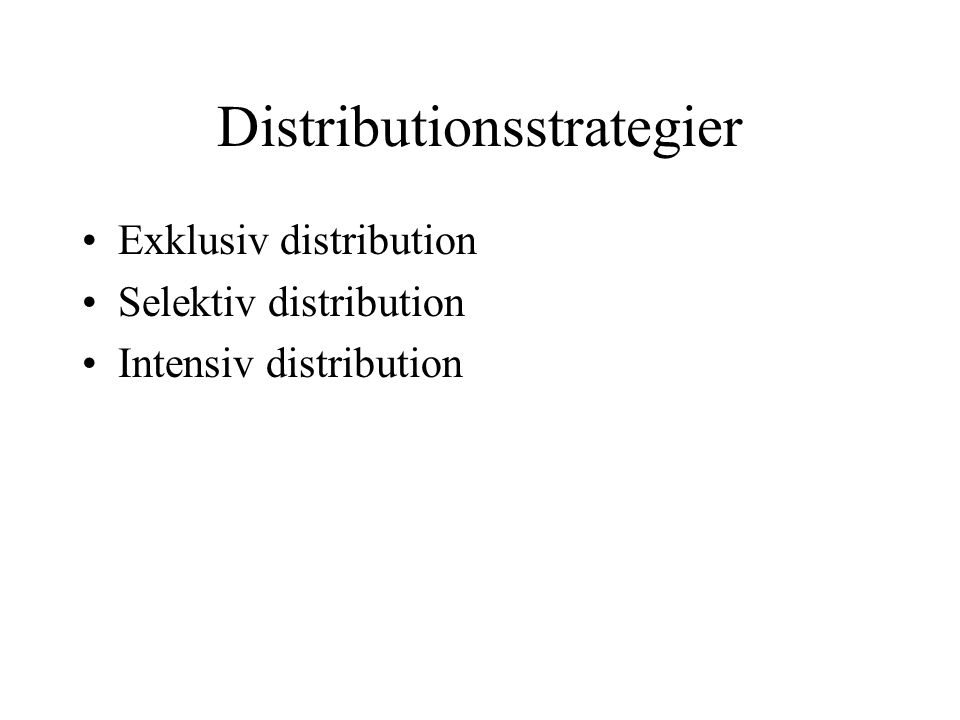 Distributionsstrategier