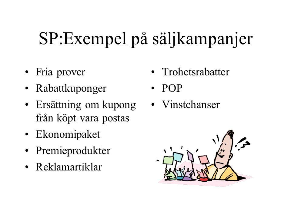 SP:Exempel på säljkampanjer