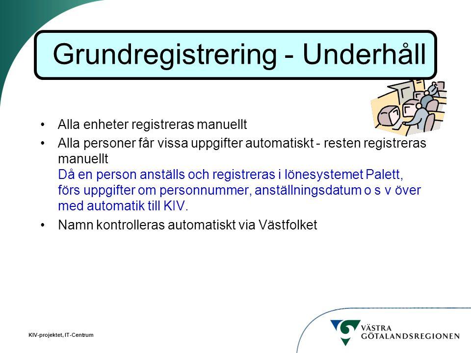 Grundregistrering - Underhåll