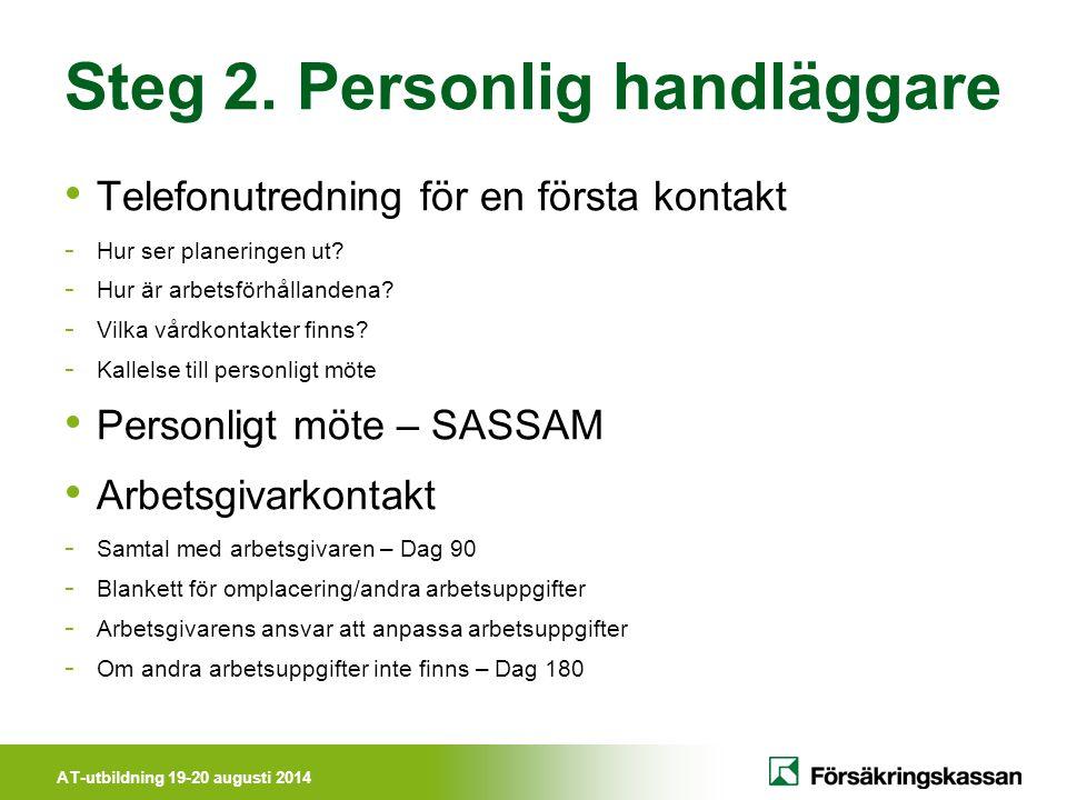 Steg 2. Personlig handläggare