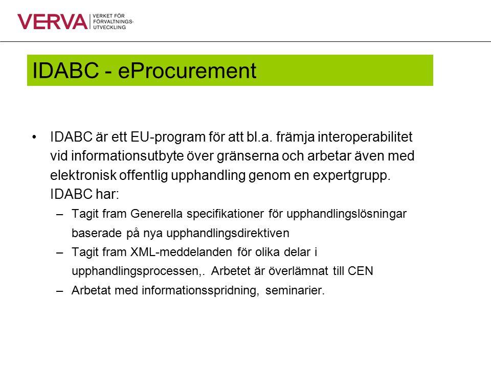 IDABC - eProcurement