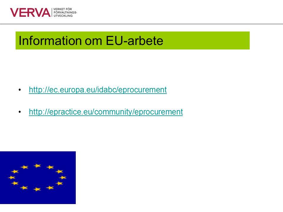 Information om EU-arbete