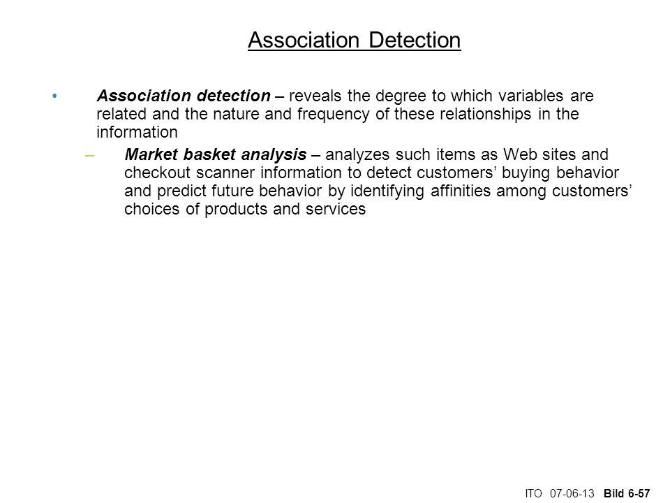 Association Detection