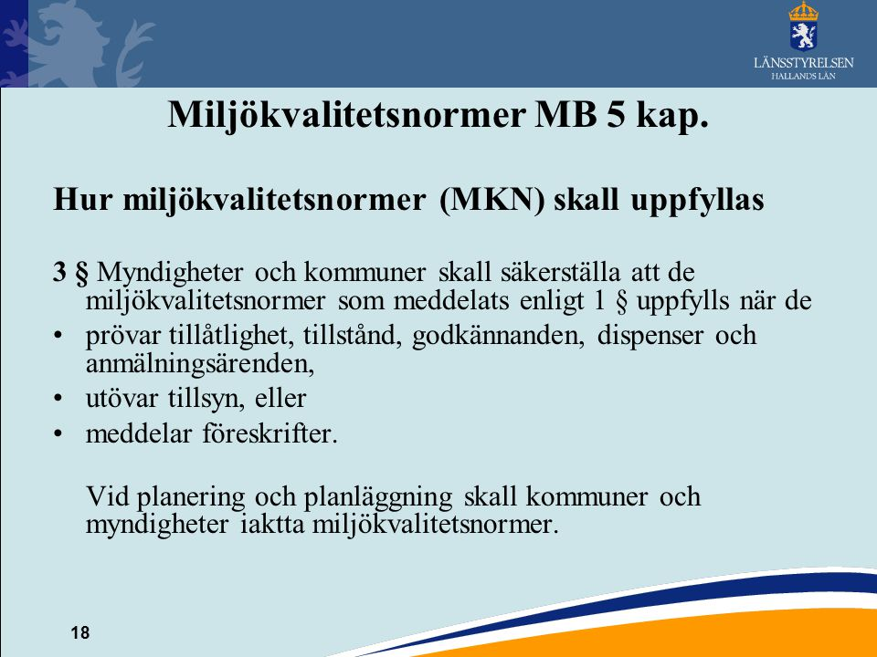 Miljökvalitetsnormer MB 5 kap.