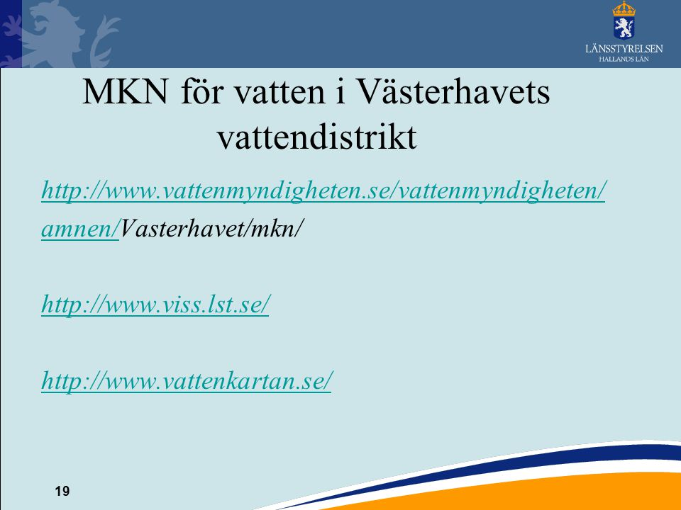 MKN för vatten i Västerhavets vattendistrikt