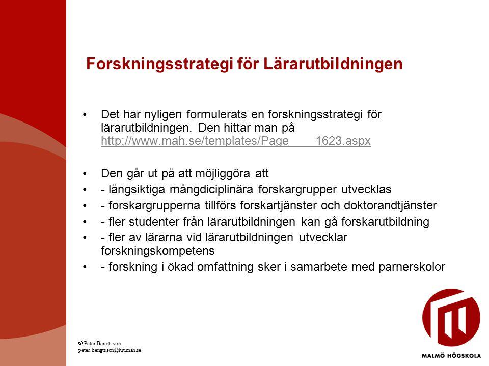 Forskningsstrategi för Lärarutbildningen