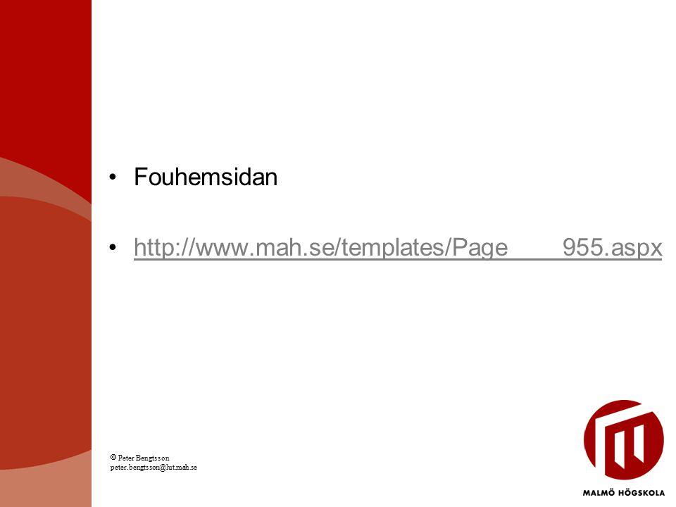 Fouhemsidan http://www.mah.se/templates/Page____955.aspx