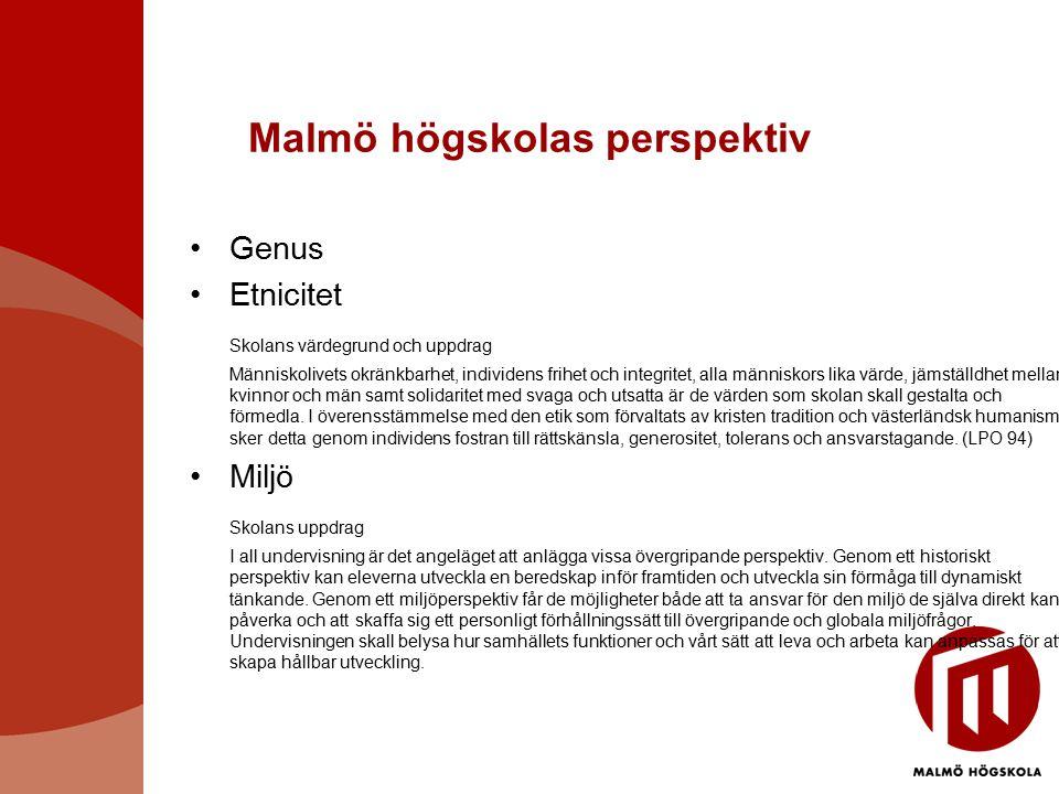 Malmö högskolas perspektiv