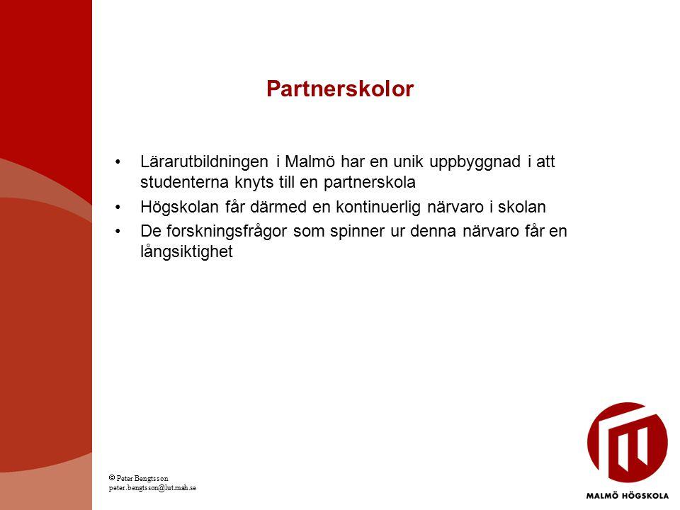 Partnerskolor Lärarutbildningen i Malmö har en unik uppbyggnad i att studenterna knyts till en partnerskola.