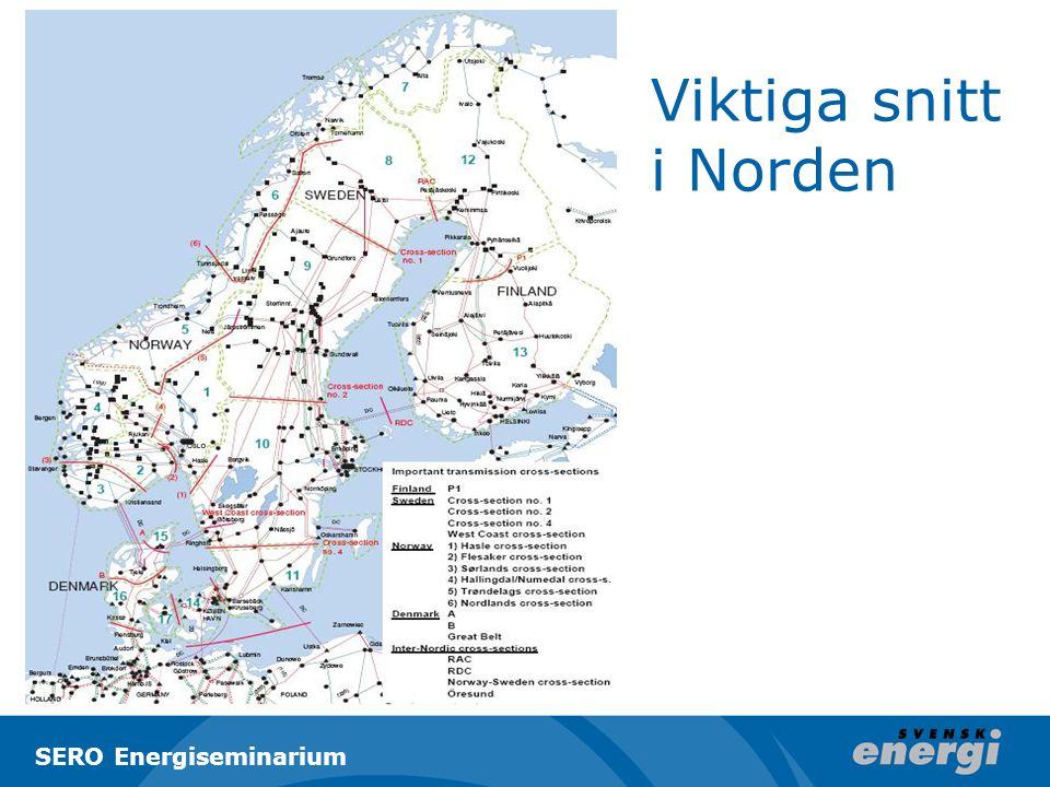 Viktiga snitt i Norden SERO Energiseminarium
