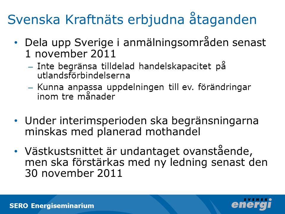 Svenska Kraftnäts erbjudna åtaganden