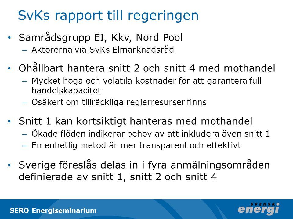 SvKs rapport till regeringen