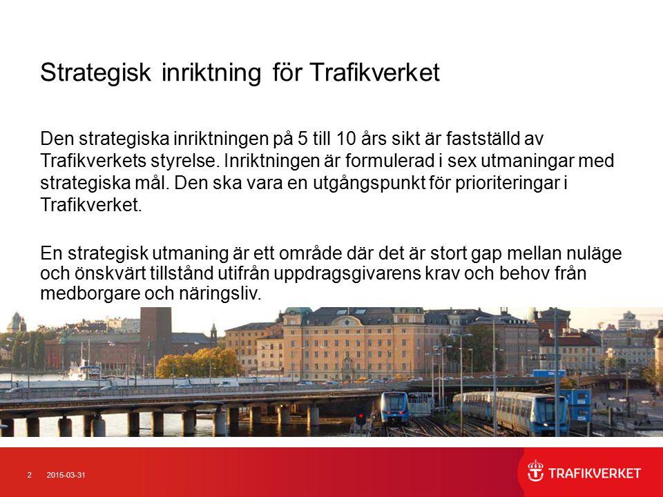 Strategisk inriktning för Trafikverket