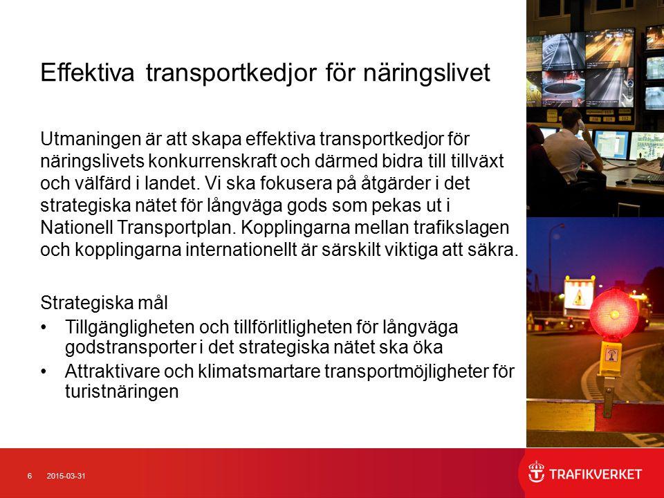 Effektiva transportkedjor för näringslivet
